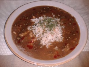 The Low-Fat Chicken and Sausage Gumbo (made w/ OIL-LESS ROUX)
